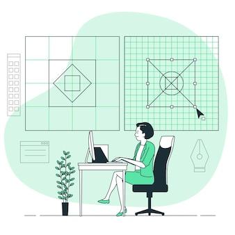 Grid design concept illustrazione