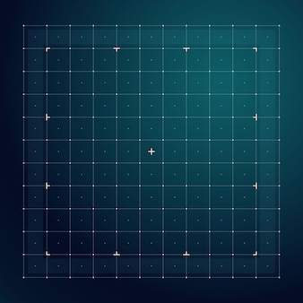 Grid for futuristic hud interface. line technology vector pattern. digital screen interface display, electronic grid for futuristic user system illustration