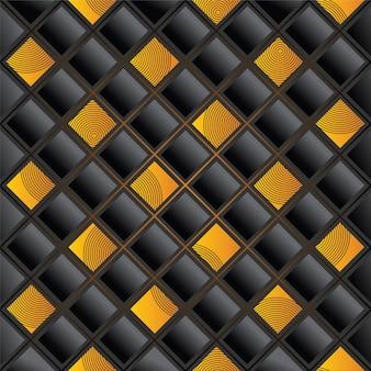 Grid gold pattern