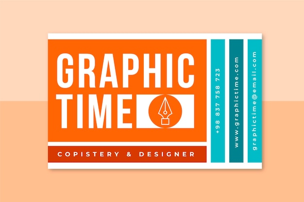 그리드 그래픽 디자인 카드