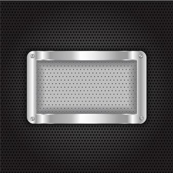 Grid metallic background