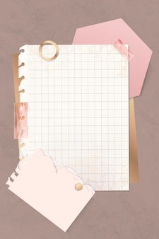 Grid paper note template