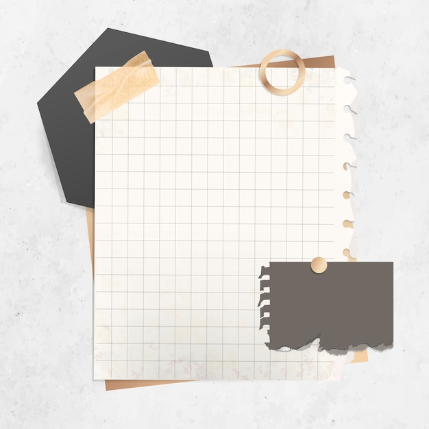 picture about Note Paper Template called Grid paper take note template Vector Absolutely free Obtain