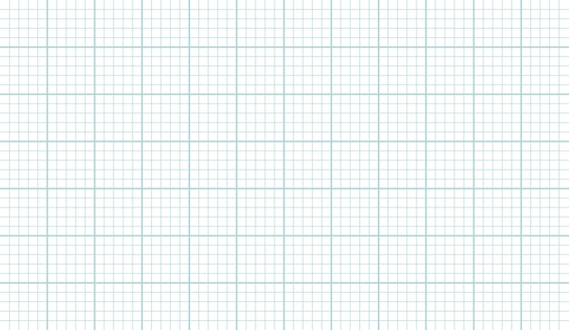 Grid paper sheet texture vector horizontal background, grahp paper template for architect plans