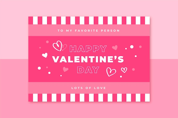 Grid valentines day card template