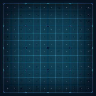 Grid for virtual futuristic interface hud