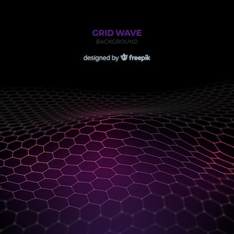 Grid wave background