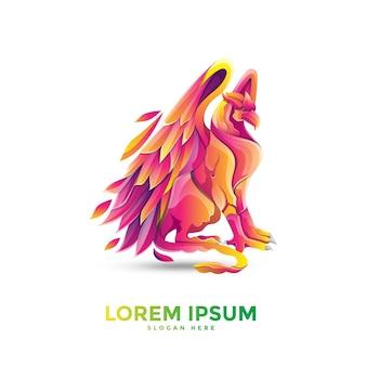 Грифон красочный логотип