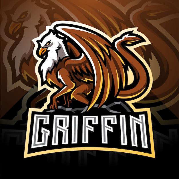 Griffin esport талисман дизайн логотипа