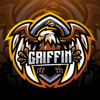 Griffin esport mascot logo design