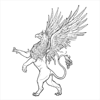 Griffin, griffon, or gryphon legendary creature from greek mythology