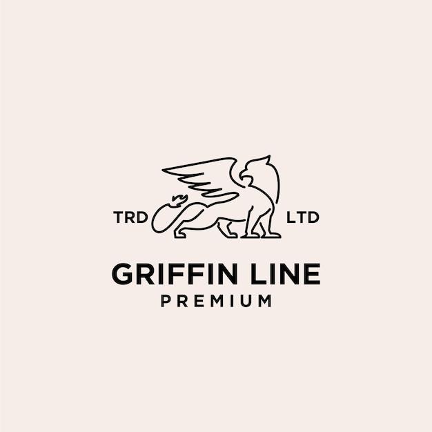 Griffin line premium vintage logo