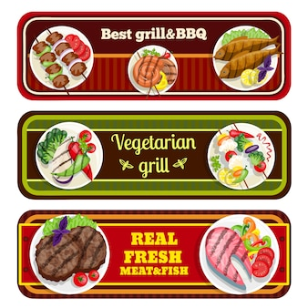 Grill dishes banners