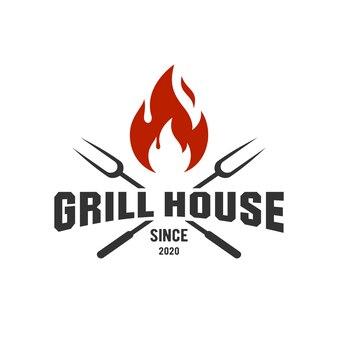 Вдохновение с логотипом grill house