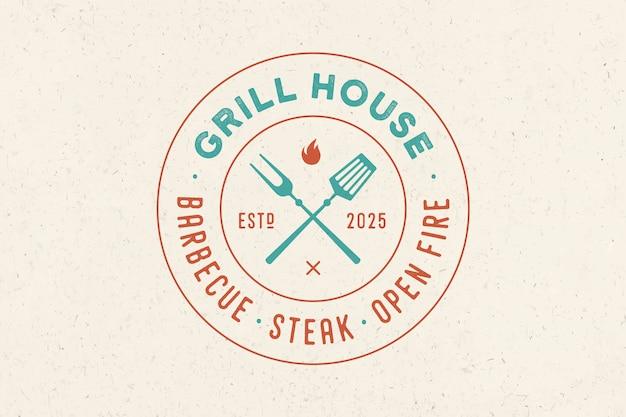 Логотип для ресторана grill house
