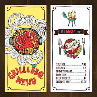 Grill menu sketch