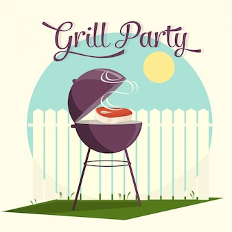 Grill party design