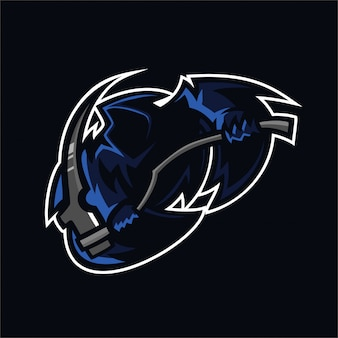 Grim reaper esport gaming mascot logo template