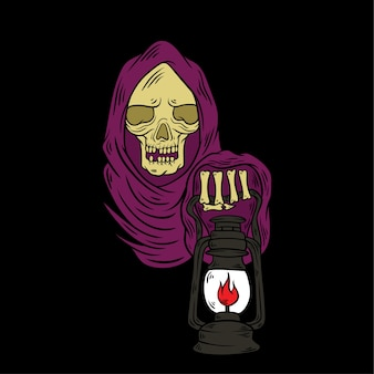 Grim reaper hand drawn illustration