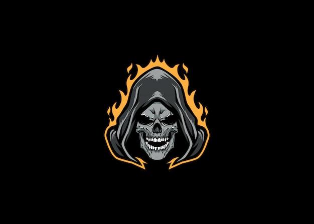 Grim reaper head esport logo