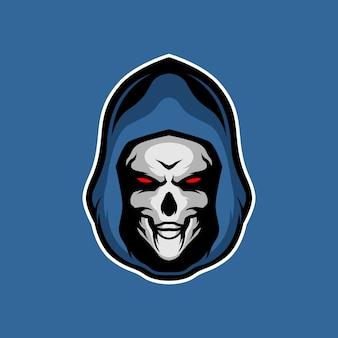 Grim reaper head mascot