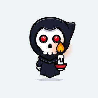죽음의 신 지주 촛불. 귀엽다