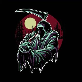 Мрачный жнец в темноте
