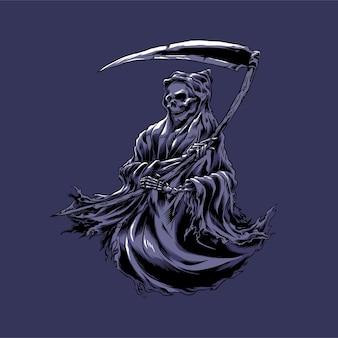 Grim reaper llustration