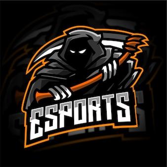 Grim reaper mascot gaming logo