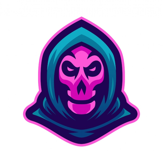 Grim reaper mascot logo vector illustration