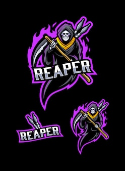 Grim reaper mascot Premium Vector
