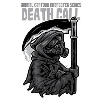 Grim reaper mask illustration