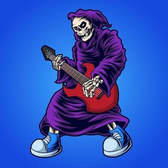 기타 그림을 연주하는 죽음의 신