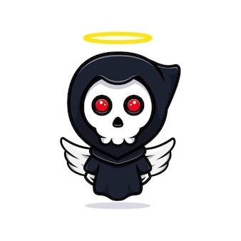 Grim reaper transform to the angel. cute