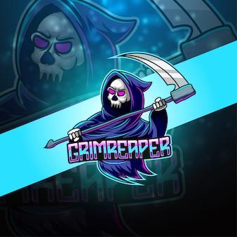 Grimreaper esport талисман логотип