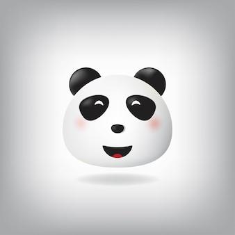 ニヤリと顔パンダ絵文字