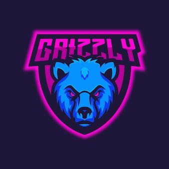 Grizzly bear esport logo