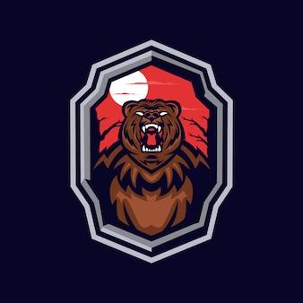 グリズリーベアのマスコットロゴ