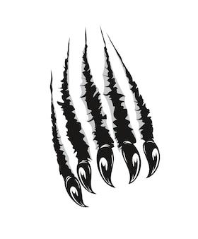 ハイイログマ、モンスターの爪が紙や壁を切る