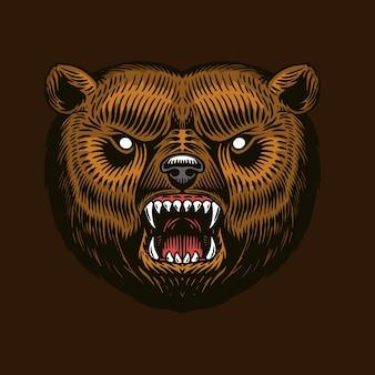 Бурый медведь гризли.