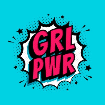 Grl pwr splash background