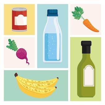 Продовольственные товары и пищевые символы