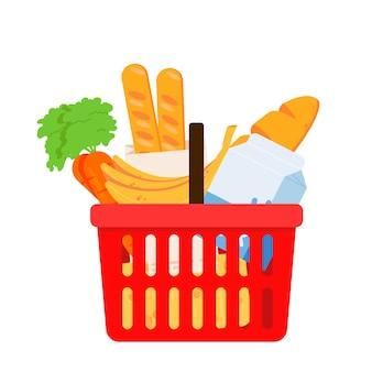 Grocery food basket.