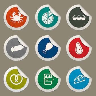 Webサイトとユーザーインターフェイスに設定された食料品アイコン