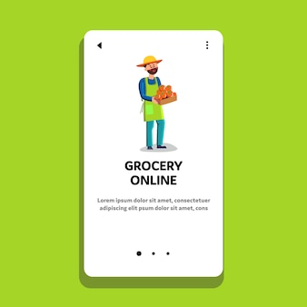 Grocery online store and food delivery