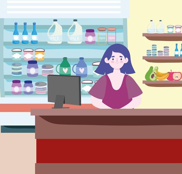 식료품 점 직원