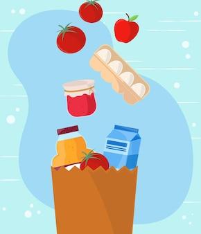 식료품 쇼핑 개념
