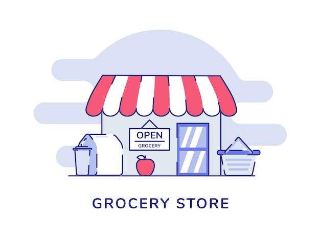 食料品店のコンセプトアップルフルーツ食品包装ドリンクカートフロントストア