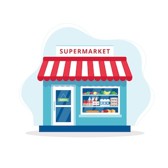 Grocery store concept illustration