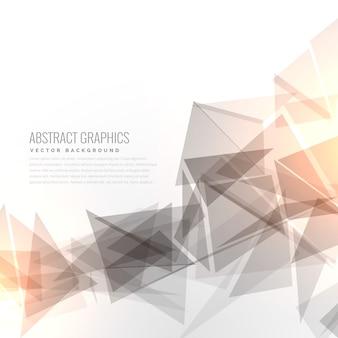 光効果を持つ抽象グレーgrometric三角形の形状